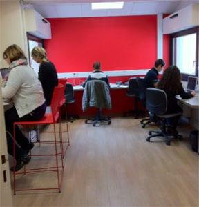 L'espace de travail ouvert de l'@telier